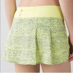 Lululemon Pace Rival Skirt Run Yellow Polka Dot 4